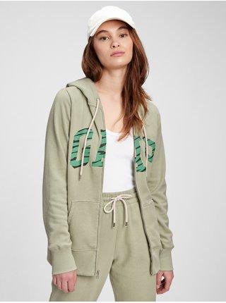 Zelená dámská mikina GAP Logo easy hoodie