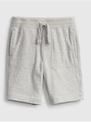 Šedé klučičí dětské kraťasy organic mix and match pull-on shorts