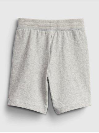 Detské kraťasy organic mix and match pull-on shorts Šedá