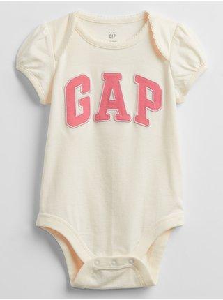 Baby body GAP Logo bodysuit Béžová