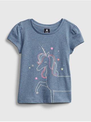 Modré holčičí dětské tričko ss ptf gr
