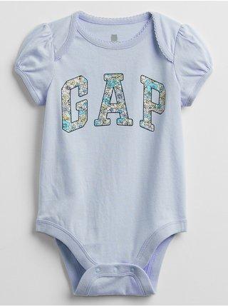 Modré holčičí baby body GAP Logo v-g bf bs