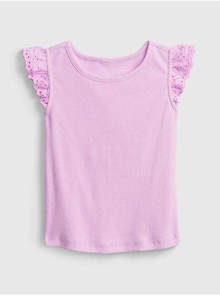 Detské tričko lace-trim tank Ružová