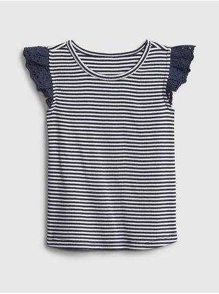 Detské tričko lace-trim tank Šedá