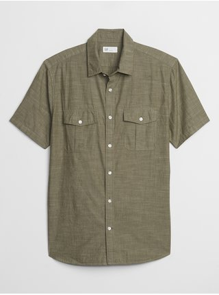 Košeľa short sleeve utility shirt Zelená