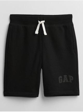 Černé klučičí dětské kraťasy GAP Logo v short