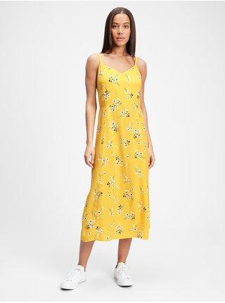 Šaty print cami midi dress Žltá