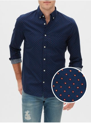 Košeľa poplin shirt in slim fit Modrá