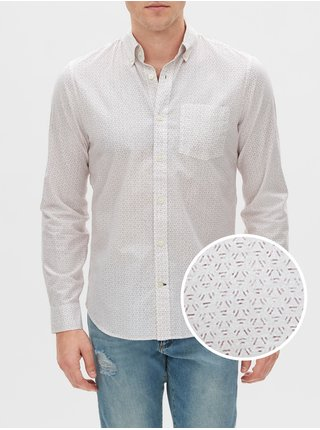 Košeľa poplin shirt in slim fit Šedá