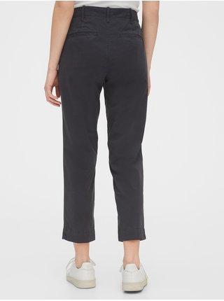 Černé dámské kalhoty straight khakis