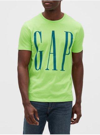 Zelené pánské tričko GAP Logo v-ss corp