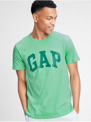 Zelené pánské tričko GAP Logo v-basic