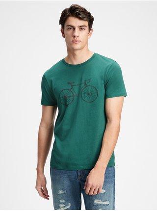 Zelené pánské tričko v-bicycle