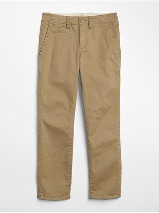 Béžové klučičí dětské kalhoty chinos in stretch