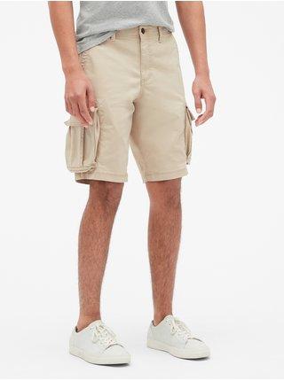 Béžové pánské kraťasy 11 Twill Cargo Shorts with GapFlex