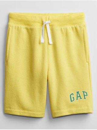 Detské kraťasy GAP Logo pull-on shorts Žltá