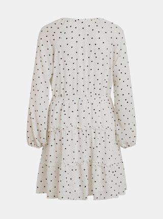 Biele bodkované šaty s volánmi VILA Dotties