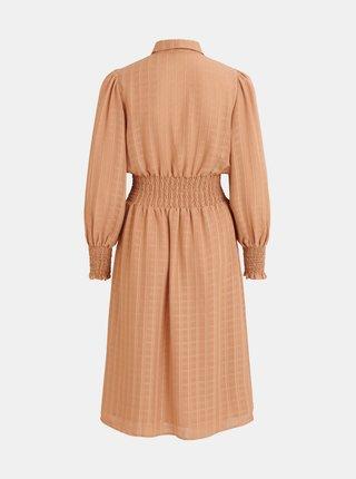 Béžové košeľové šaty VILA Musling