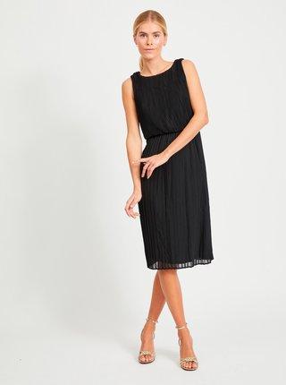 Čierne plisované šaty VILA Mils