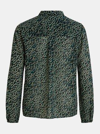 Zeleno-čierna vzorovaná košeľa VILA Nema