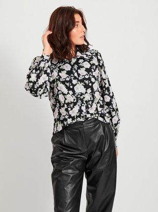 Čierna kvetovaná košeľa VILA Hola