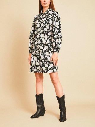 Čierne kvetované košeľové šaty VILA Hola