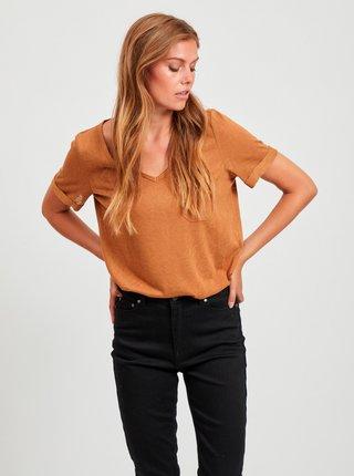 Hnedé tričko .OBJECT Tessi