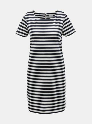 Modro-biele  pruhované šaty VILA