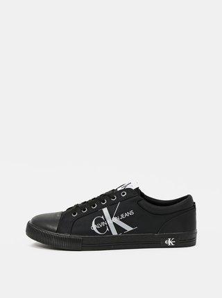 Calvin Klein černé pánské tenisky Vulcanized Sneaker Laceup