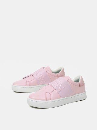 Calvin Klein ružové tenisky Cupsole Slipon Elastic