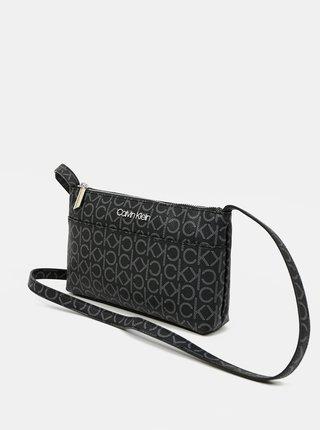 Calvin Klein čierne crossbody kabelka EW Xbody Monogram
