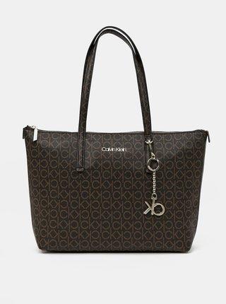 Calvin Klein hnedé kabelka Shopper MD Monogram