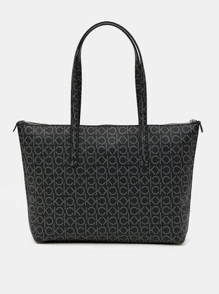 Calvin Klein čierne kabelka Shopper MD Monogram