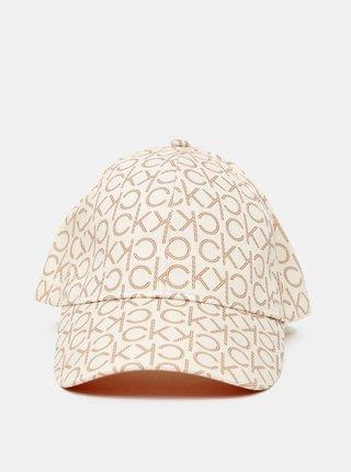 Calvin Klein smotanové/krémové šiltovka BB Cap s logom