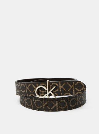 Calvin Klein hnědý pásek CK Logo Belt