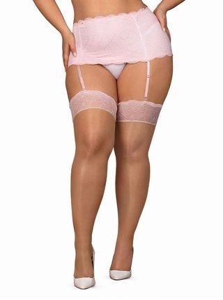 Sexy punčochy Girlly stockings XXL - Obsessive nude