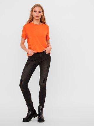Oranžové tričko AWARE by VERO MODA Ava