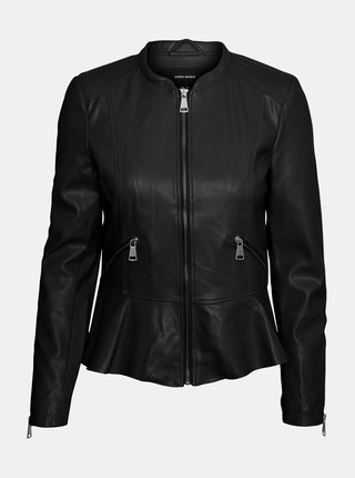 Černá koženková bunda VERO MODA