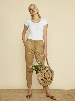 Hnědé dámské zkrácené kalhoty ZOOT Baseline Edita