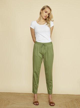 Zelené dámské zkrácené kalhoty ZOOT Baseline Edita