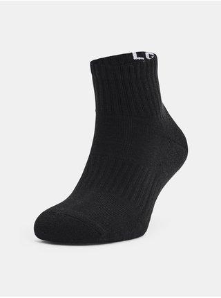 Ponožky Under Armour Core QTR 3PK - černá