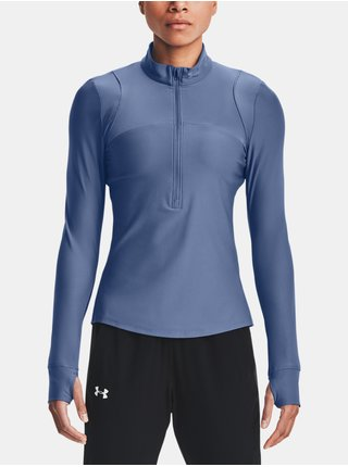 Tričko Under Armour Qualifier Half Zip - modrá