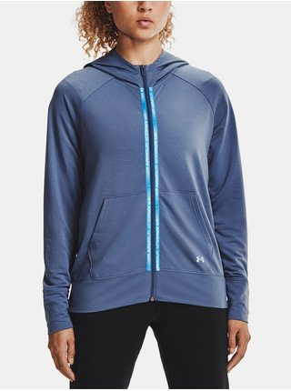 Mikina Under Armour Rival Terry Taped FZ Hoodie - modrá