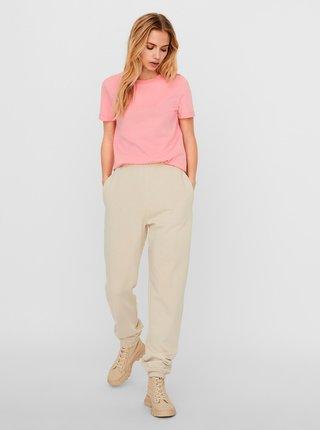 Růžové basic tričko VERO MODA Paula