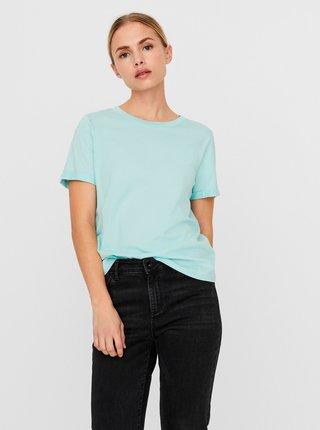 Světle modré basic tričko VERO MODA Paula