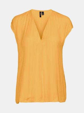Žltá voľná blúzka VERO MODA Flannery