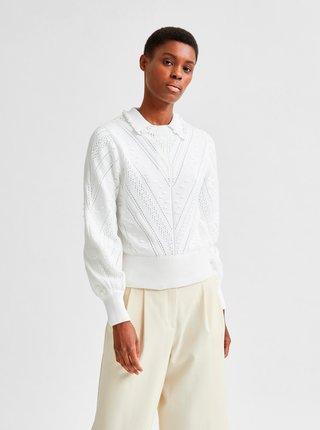 Bílý lehký svetr Selected Femme Julia