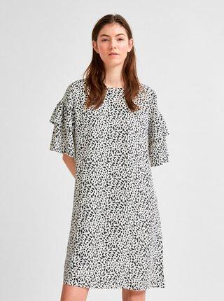 Čierno-biele vzorované šaty Selected Femme Carla