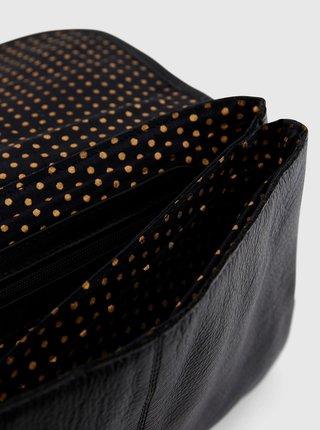 Černá kožená crossbody kabelka Pieces Gine