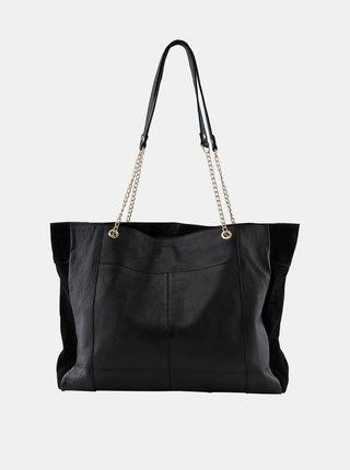 Čierna kožená kabelka Pieces Gunna